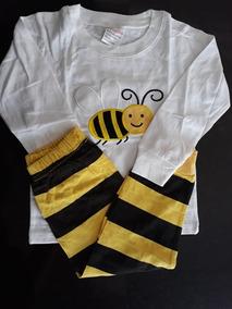 bd5f8301d1682d Pijama Infantil Abelha - Novo