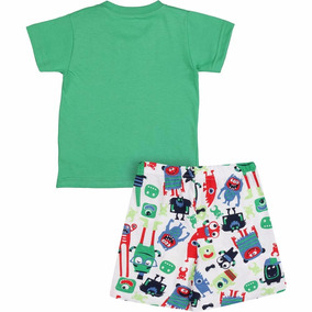 5f65e3759 Pijama Infantil Camiseta E Bermuda - Malwee