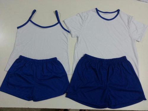 pijama infantil curto feminino e masculino para sublimação