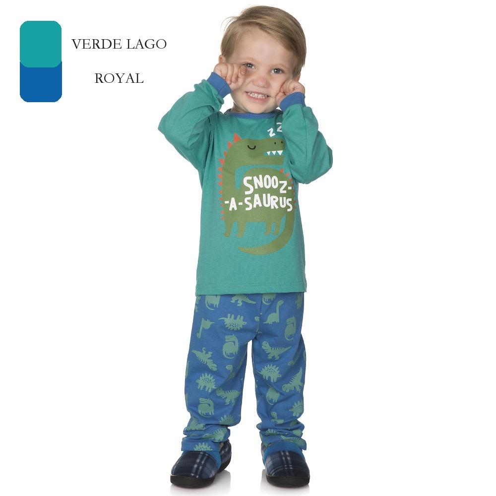 4b9ef46db pijama infantil de menino longo de inverno dinossauro 1-2-3. Carregando  zoom.