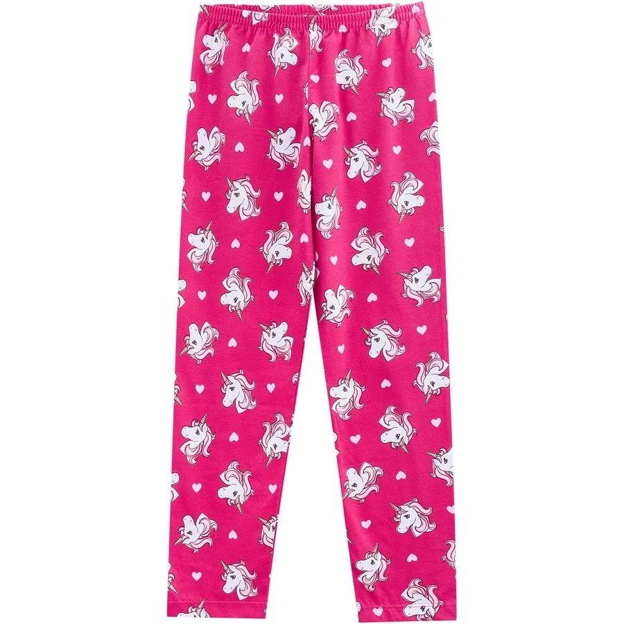 8bf2041bb pijama infantil feminino menina blusa e calça kyly unicórnio. Carregando  zoom.