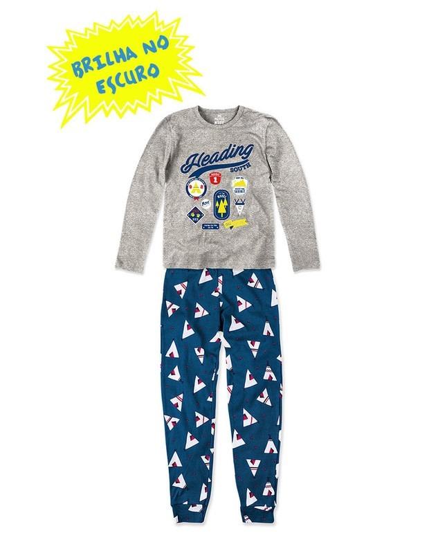 f4c29368f Pijama Infantil Hering Kids Brilha No Escuro 56qam2h00 - R  84