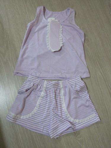 pijama infantil malha c/ tapa olho n° 08