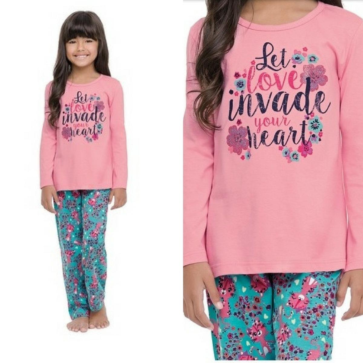 d03c660b2 pijama infantil malwee malha algodão shortdoll infantil. Carregando zoom.