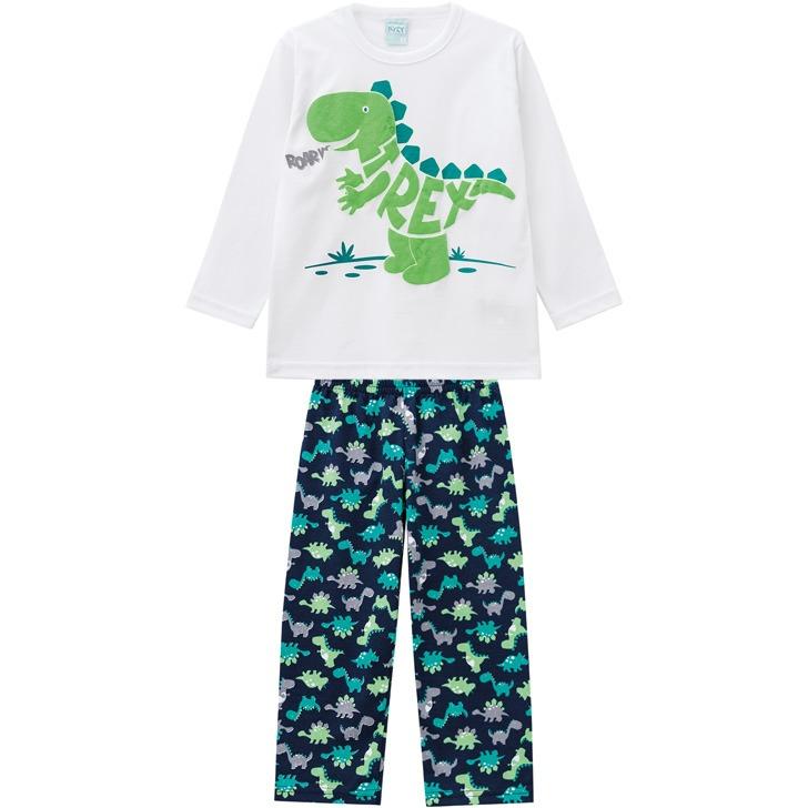 398e528a3a8f00 Pijama Infantil Masculino Blusa + Calça Kyly-3