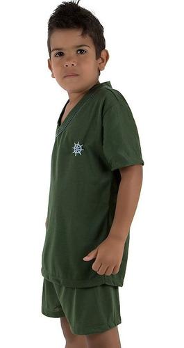 pijama infantil masculino manga curta | roupas de criança