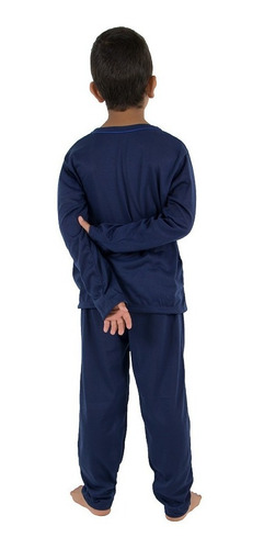 pijama infantil masculino manga longa menino roupas -menino