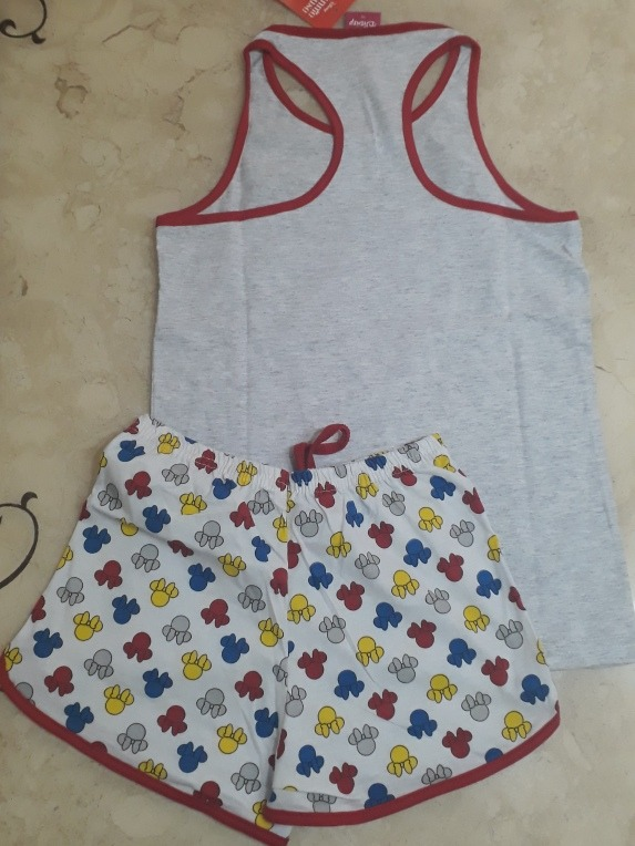 b565f4cb5cc555 Pijama Infantil Menina Disney Minnie 8 Regata Shorts Novo