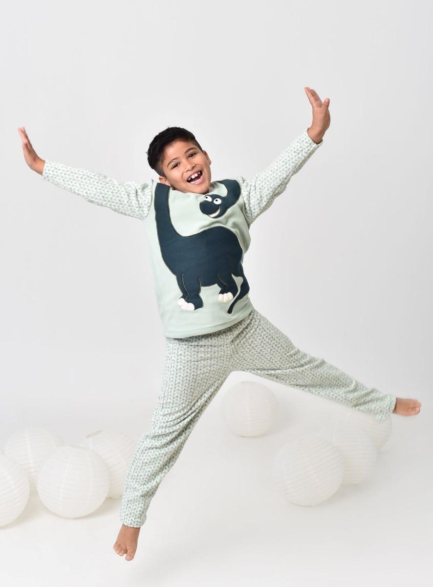 ba32b0d3b92973 Pijama Infantil Menino Inverno Soft De Dinossauro Tam 02