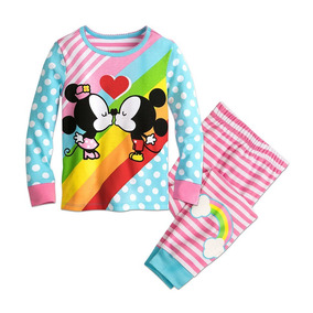 acc7e33cd6 Pijama Infantil Minnie E Mickey 3 Anos Original Disney Store