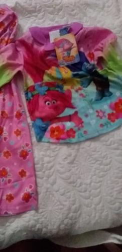 pijama infantil trolls, tamanho 6 a 8 anos, produto lacrado