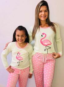75bee32fbbc743 Pijama Inverno Tal Mãe Tal Filha Algodão