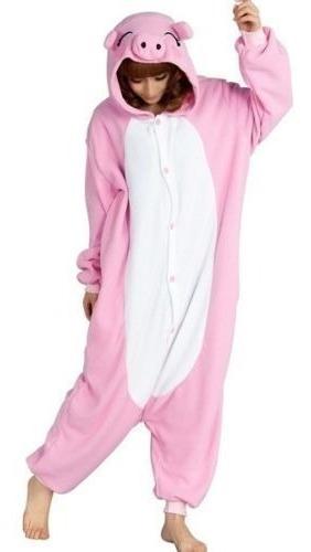 pijama kigurumi animales enteros- chancho rosa niños adulto