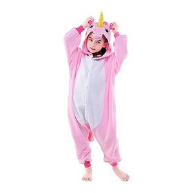 Pijama Kigurumi Unicórnio Infantil Rosa E Branco 2 A 16 Anos