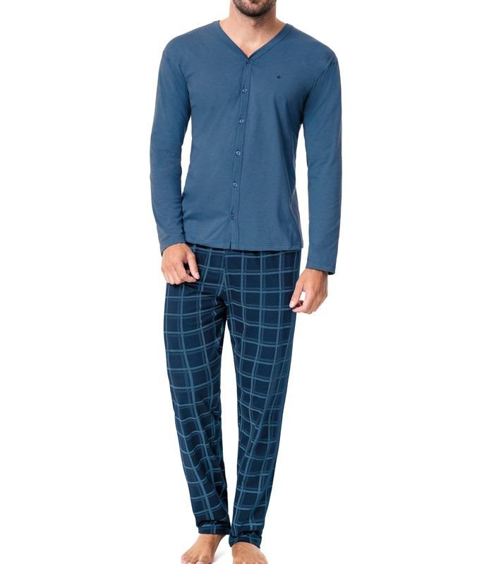 4d92cb89a pijama longo aberto masculino malwee liberta 100% algodão. Carregando zoom.