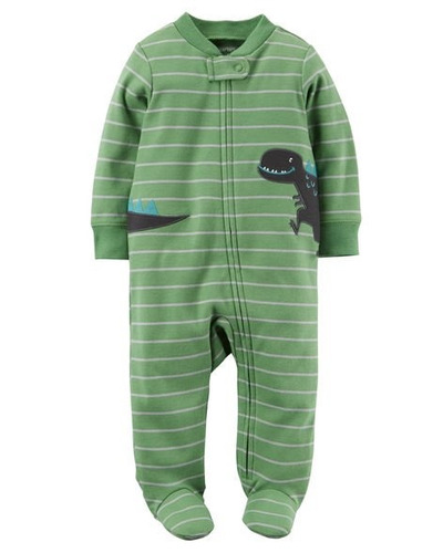 pijama macacão malha algodão carters menino rn - 9 meses