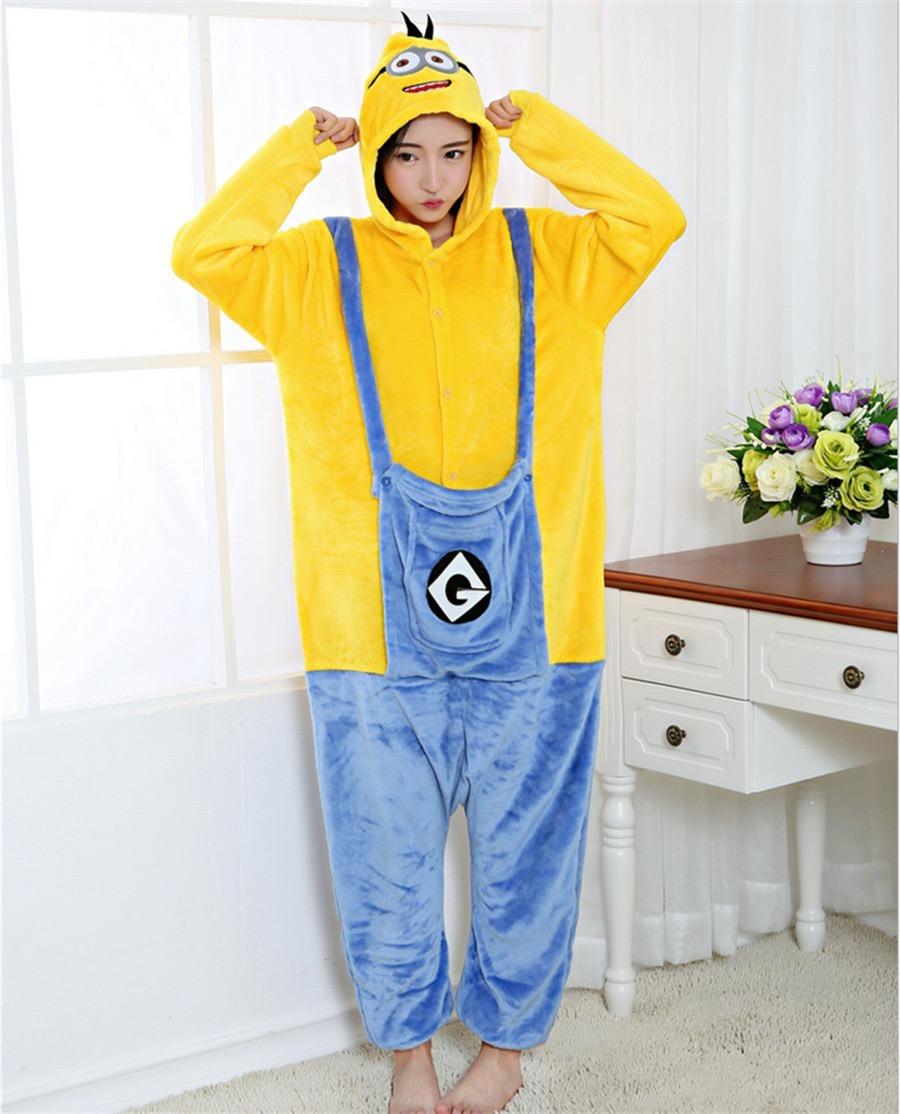 012075a8e4 pijama macacão minions kigurumi adulto pronta entrega capuz. Carregando zoom .