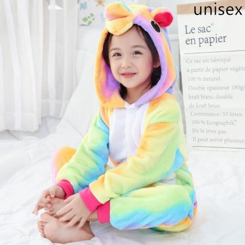 pijama mameluco unicornio cosplay arcoiris niña niño