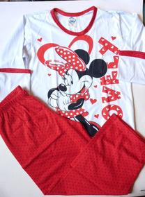68eaf656a741c7 Pijama Manga Comprida Minie Vermelha Tematico Infantil 6anos