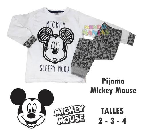 pijama manga larga disney mickey mouse original mundo manias