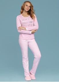 c50ea63cf0d751 Pijama Manga Longa Adulto Feminino