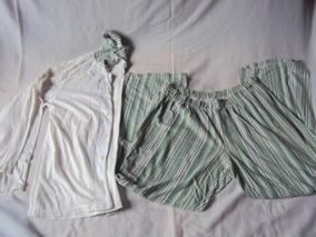 11fa5655859e01 Pijama Masculino Branco E Verde Kanto Dos Sonhos Tamanho M