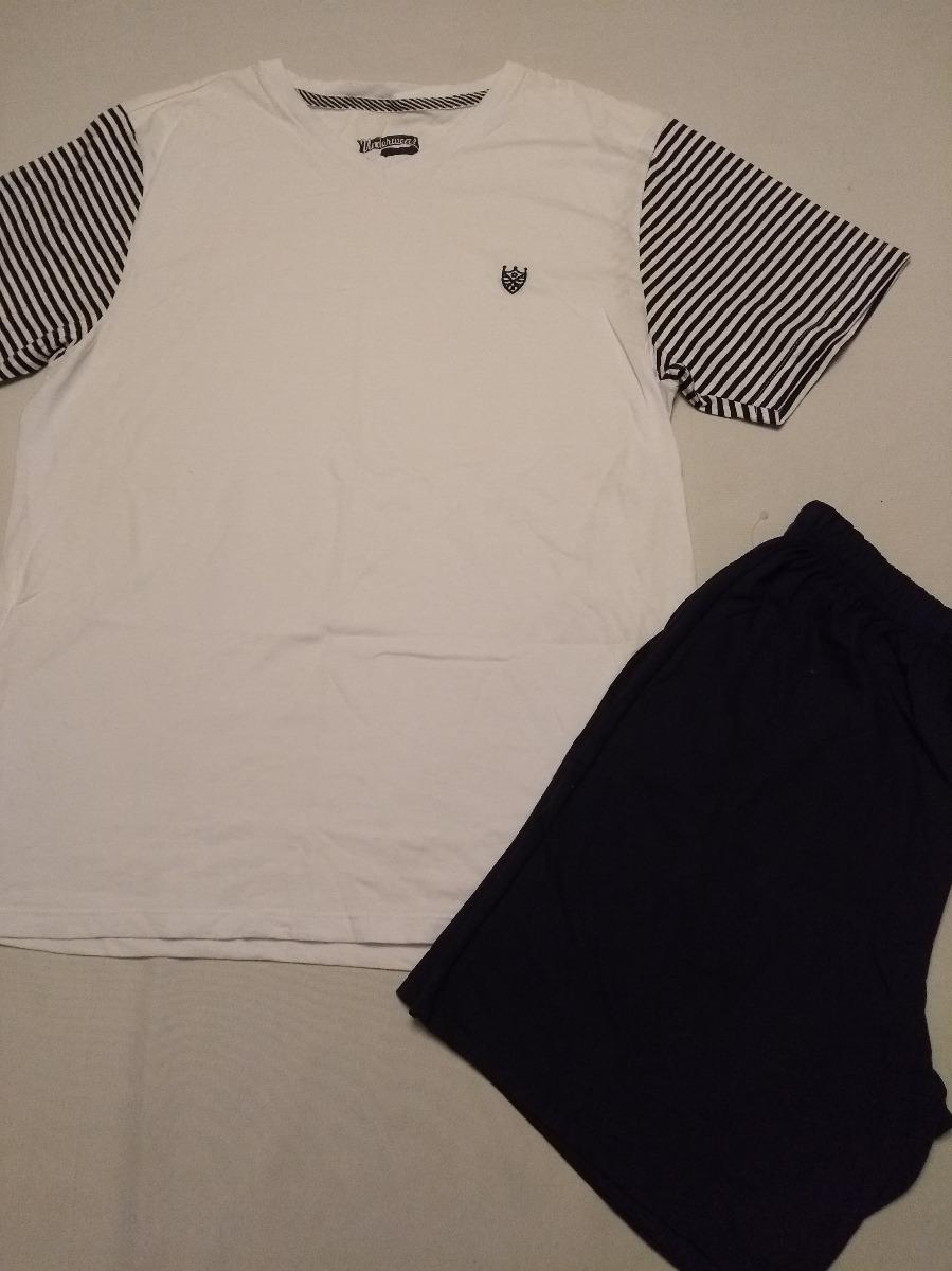 5525f611d1edb2 Pijama Masculino Branco Tam M! Ref0128