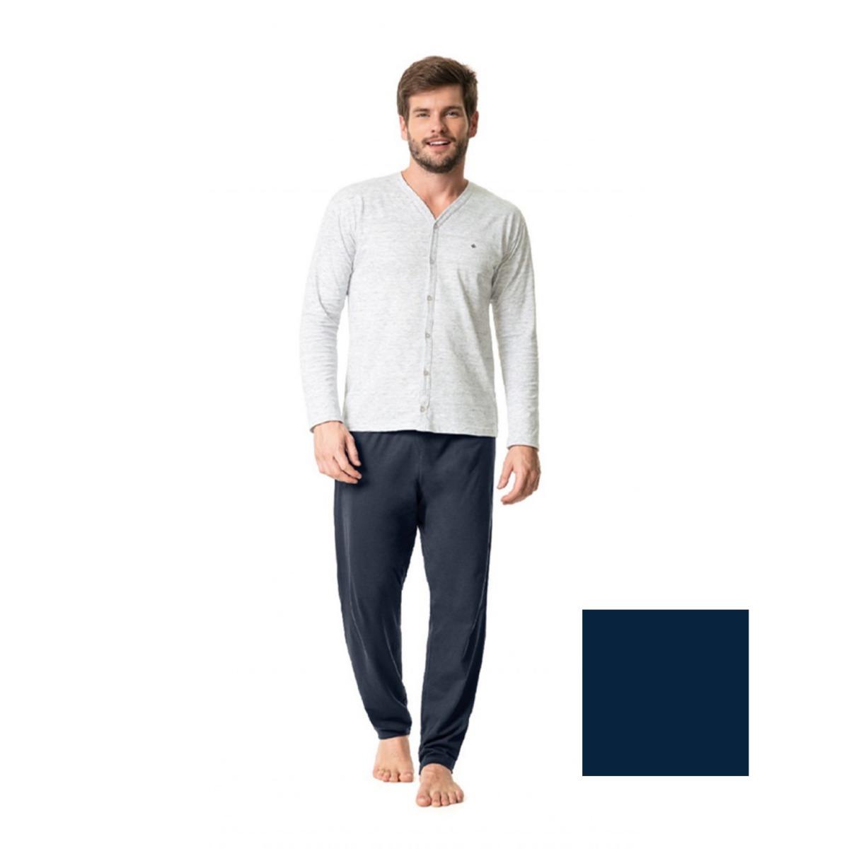 37961278e Pijama Masculino De Inverno Com Bordado - Malwee - 37269 - R  99