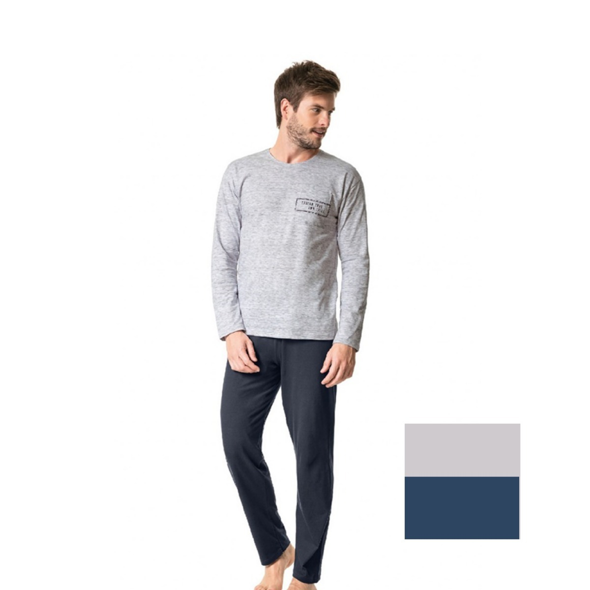 2e233f48f pijama masculino de inverno - malwee - 37263. Carregando zoom.