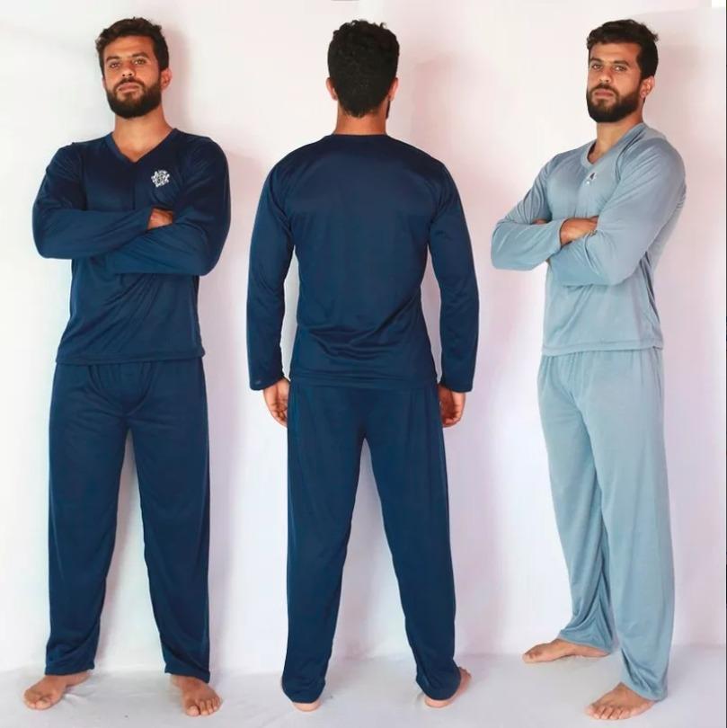 356a55898 Pijama Masculino + Pijama Feminino + Pijama Curto Masculino - R  439 ...