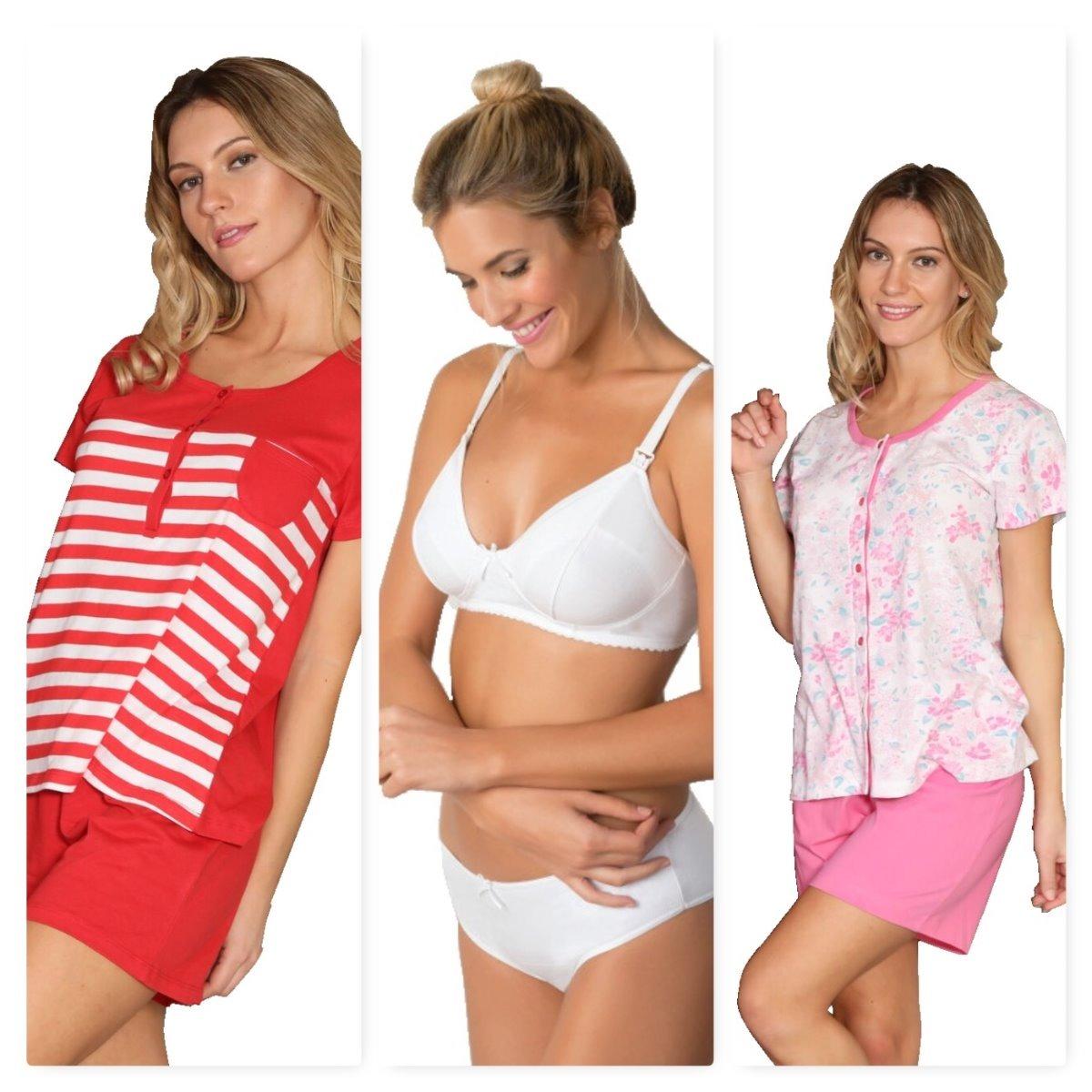 f6ae7add2 pijama maternal x2 + corpiño para amamantar lactancia. Cargando zoom.