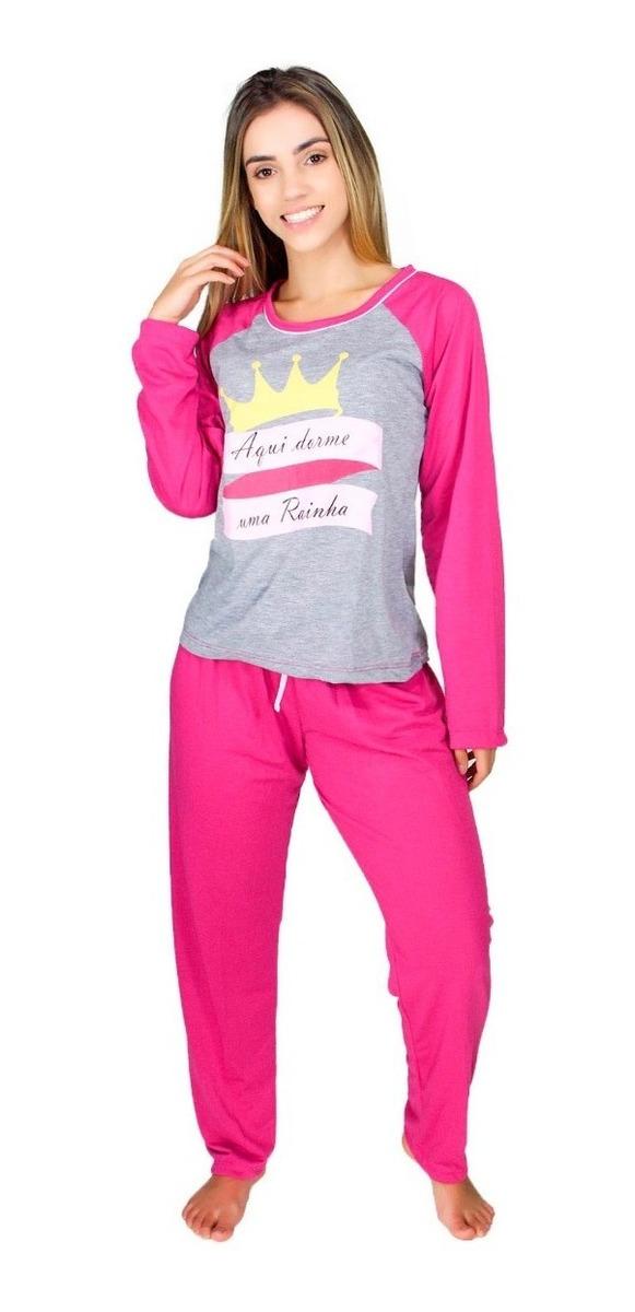 bd39368783f468 Pijama Mãe E Filha Coroa Longo Feminino Princesa Comprido