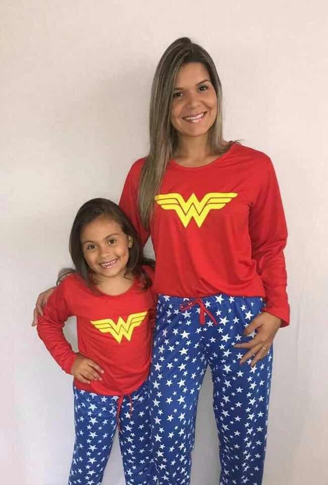 b55ec860178a90 Pijama Mãe E Filha Inverno Calça Blusa Kit