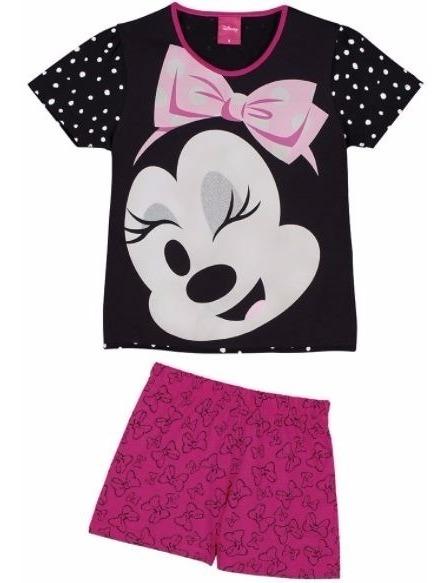 e22a2ea3228413 Pijama Minnie Disney Infantil Short Doll - Lupo