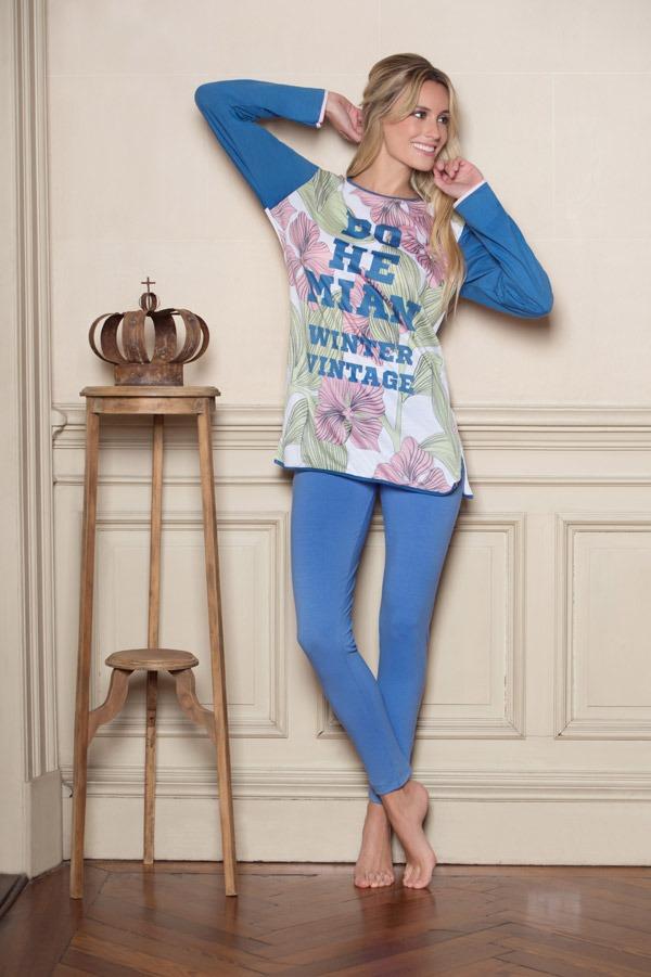 Pijama Mujer Con Calza Bohemian. Lenceria Vintage -   628 1bb69bb47615