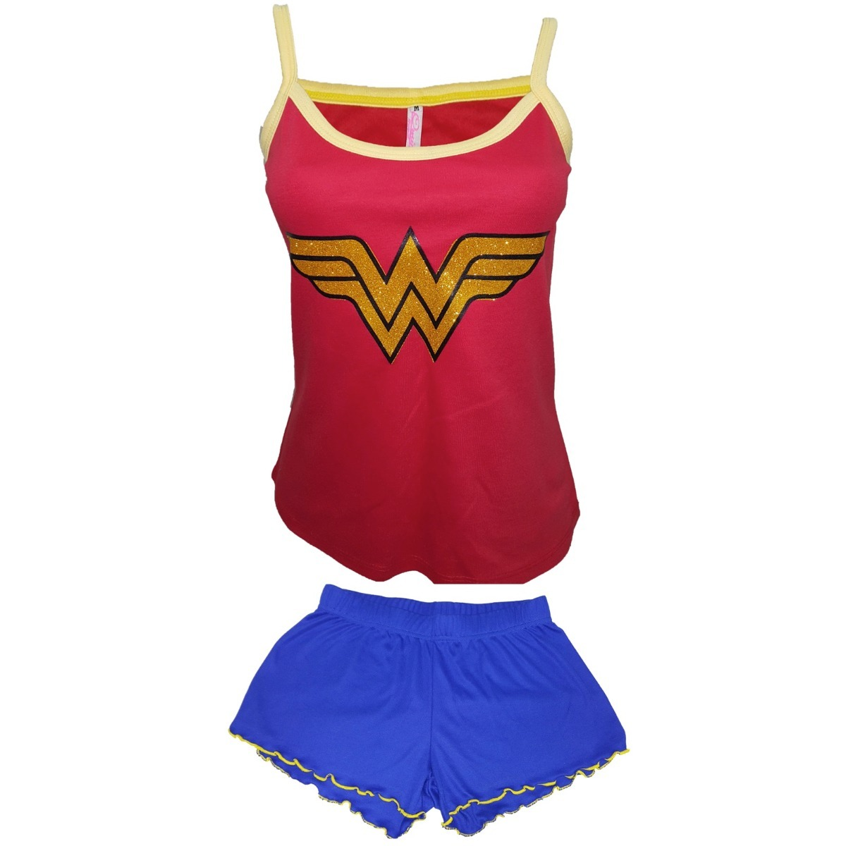 b5b60ebd5c pijama mujer maravilla dc comics superheroes franela algodo. Cargando zoom.
