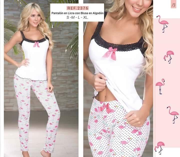 En Camiseta Y Pijama Flamingos MujerPantalon Licra Algodón CBeorxdW