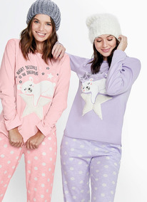 a7730890e Pijama Mujer Remerac peluche+pantalon So Pink Art 11454