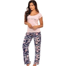 Pijama Mujer Tropical Hawái Juvenil Blusa Pantalón Multiuso