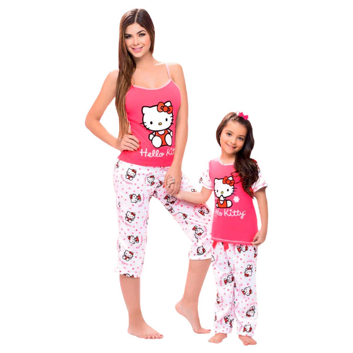 01905508a pijama niña conjunto pantalón manga corta hello kitty dormir. Cargando zoom.