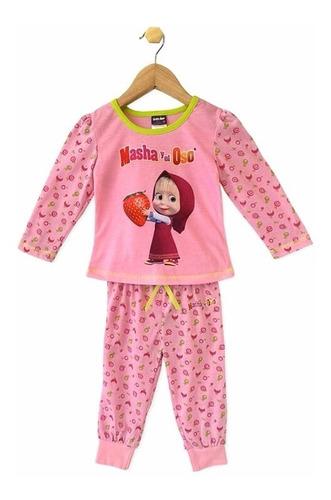 pijama niña masha y el oso manga larga