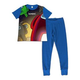 Pijama Niño Among Us Personalizada Algodon 10-14