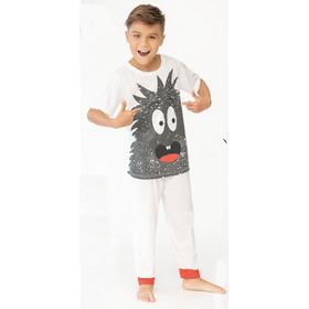 Pijama Niño Camisa Manga Corta Y Pantalón Largo De Niños