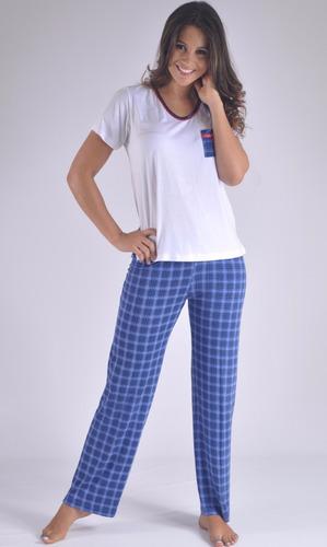 pijama pantalon swamy marinera corta mujer femenina f8905