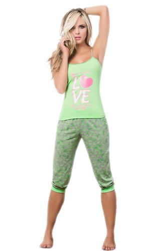 pijama para mujer conjunto capri dama sexy baby doll