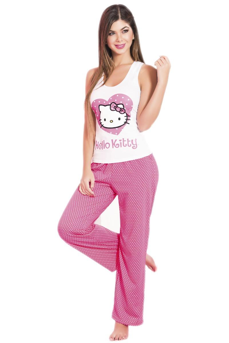 939feb984 pijama para mujer conjunto pantalón sisa dama hello kitty. Cargando zoom.