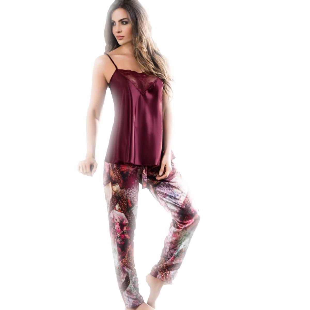 8ed324586d Pijama Para Mujer Satin Pantalón Largo Lenceria Sexy -   85.900 en ...