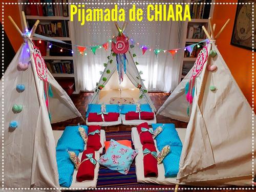 pijama party fiestas infantiles carpas tipi pijamada