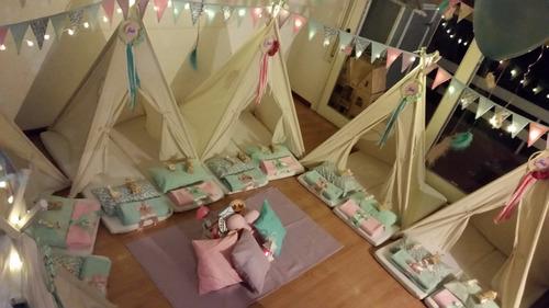 pijama party pijamadas - alquiler y ambientacion carpa india