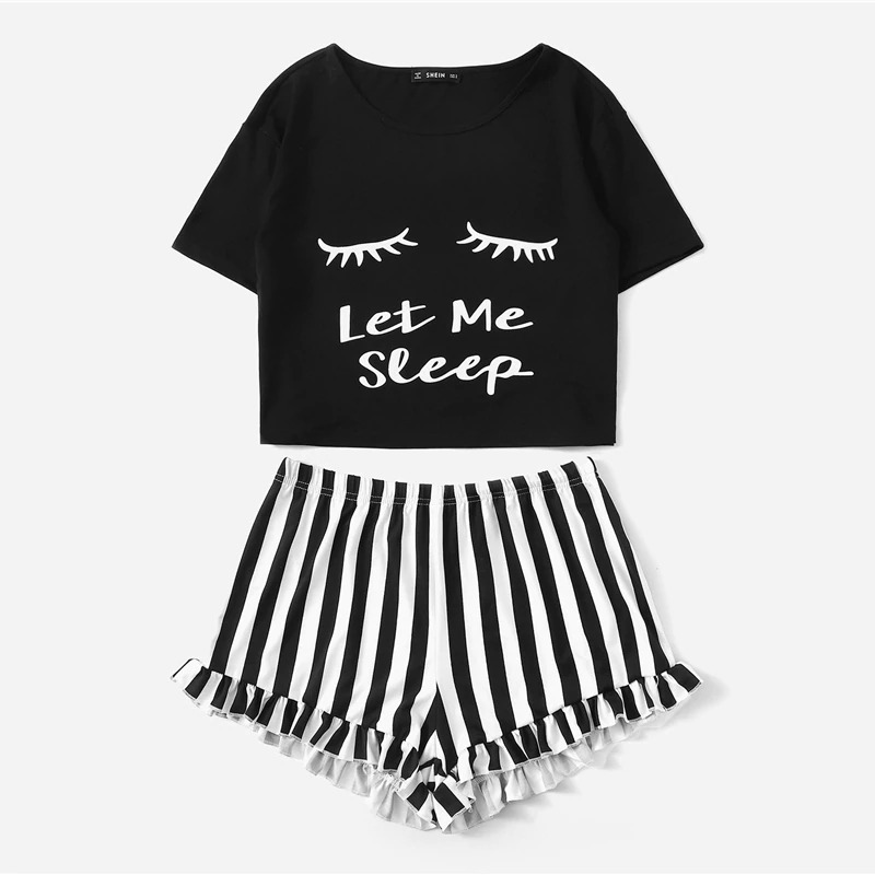 8013b74b97 pijama patchwork camiseta pantalones cortos rayas + envio. Cargando zoom.